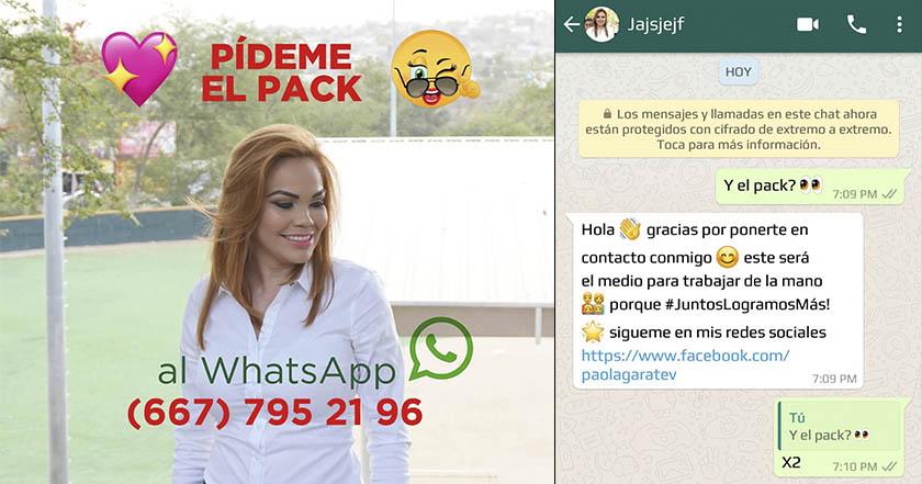 Diputada de Sinaloa ofrece su pack a quien vote por ella