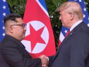 Estrechan manos Donald Trump y Kim Jong-un en Singapur (Fotos, videos)