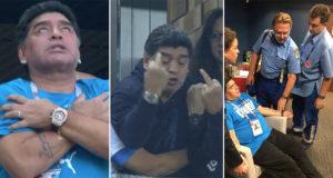 Maradona dio risa y preocupación en el #ArgentinaVsNigeria (Memes)
