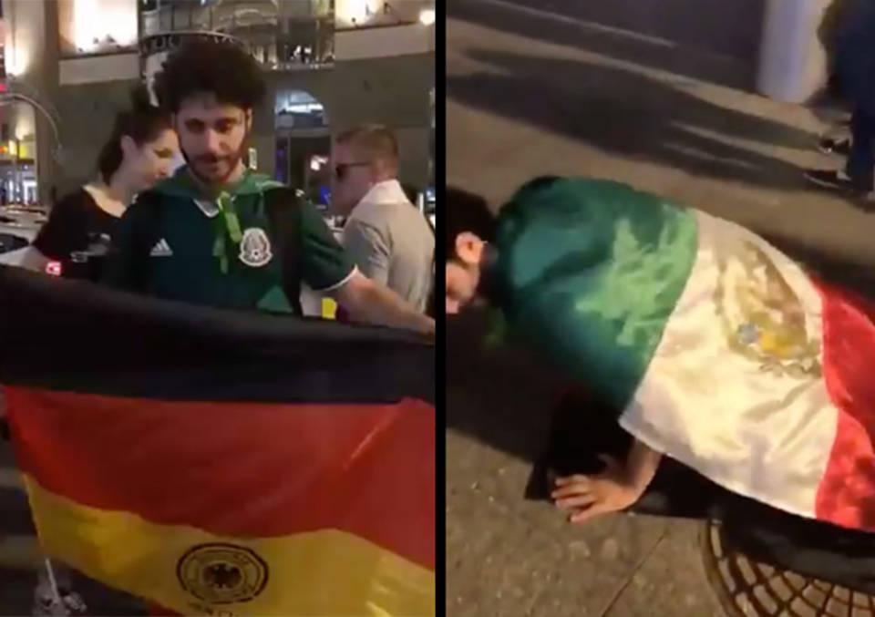 DebRyanShow hace actos obscenos con bandera alemana