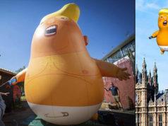 Bebé Trump viajará a Reino Unido en señal de protesta