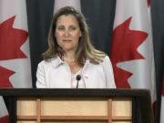 Chrystia Freeland ministra canadá amlo visita mexico