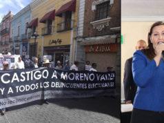 Con Puebla en descontento Martha Erika Alonso recibe constancia de mayoría
