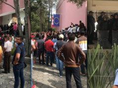 Morena descubre cuartel de mapaches panistas en Hotel MM Puebla