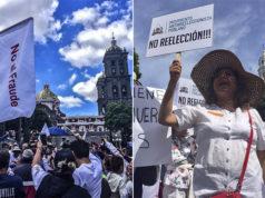 Poblanos marcharon en paz contra el fraude electoral puebla