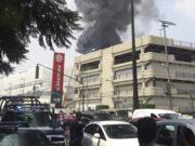 Registran incendio y columna de humo en Galerías Coapa (Videos, imágenes)