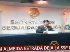 Renuncia Hiram Almeida a la SSP capitalina