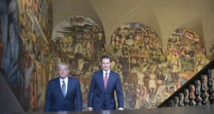 AMLO y Peña Nieto se encuentran de nuevo en Palacio Nacional 2