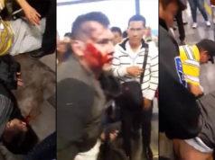 Casi linchan a dos presuntos roba celulares en Metro Línea 12