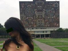 UNAM 'Falta de respeto' fotos de mujer semidesnuda en la UNAM, denuncian alumnos