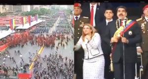 Fuerte explosión interrumpe discurso de Maduro, soldados rompen filas