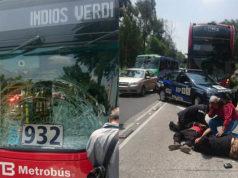 Metrobús atropella a mujer y menor de edad en la GAM