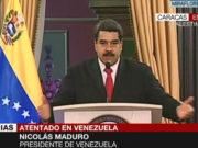 Nicolás Maduro: 'Gobierno de Colombia, detrás del atentado en mi contra'