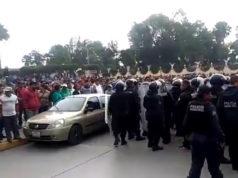 Responden con cohetes operativo en Tultepec (VIDEOS, IMÁGENES)