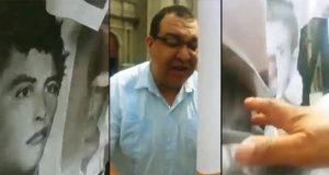 Vocero de Catedral destruye retratos de víctimas de desaparición forzada