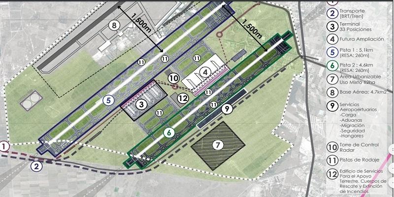 AMLO presenta plan maestro para aeropuerto alterno en Santa Lucía