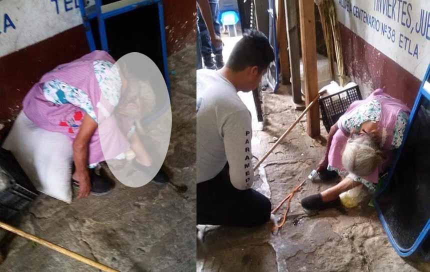 Abuelita muere en mercado y pasan horas sin que nadie lo notara