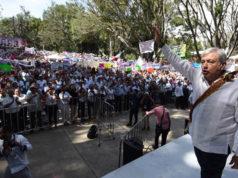 AMLO en Tepic, Nayarit en la Gira de Agradecimiento