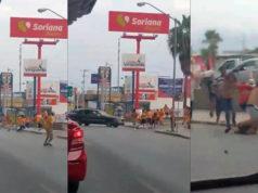 Brutales peleas entre aficionados de Tigres y Rayados; uno grave (Videos)