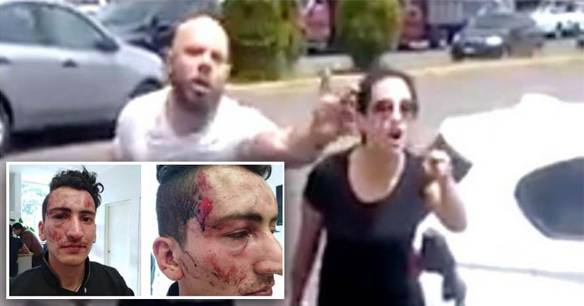 Detienen a pareja que golpeó a joven vendedor de nieves (video)