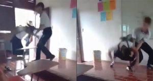 Expulsan a estudiante que golpeó a su compañera (video)