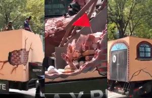 Indignación en redes por carro alegórico del Ejército por el 19s; señalan mal gusto y ofensa a damnificados