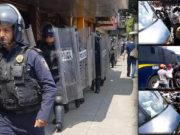 Policía desaloja a comerciantes en la Portales; se desata enfrentamiento (videos)