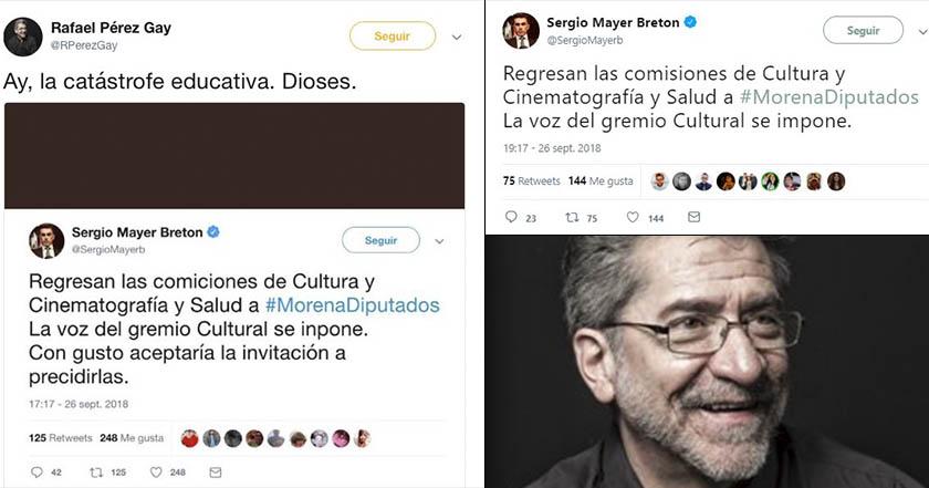 Rafael Pérez Gay, en ridículo por creerse tuit falso sobre Sergio Mayer