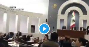Diputado del PRI en SLP amenazó de muerte a activistas en plena sesión