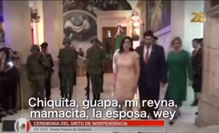 Dejan microfono prendido y le dicen perversidades a esposa de Gobernador
