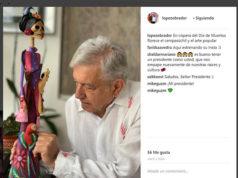 AMLO abre una cuenta en Instagram; festeja día de muertos