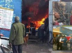 En pleno MegaCortedeAgua se incendia bodega en Neza (videos, imágenes)