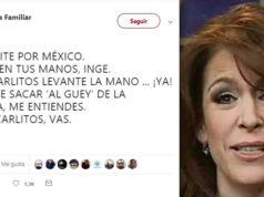 Fernanda Familiar pierde la cabeza; pide a 'San Slim' golpe de Estado vs AMLO