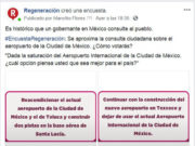 Participa en la encuesta Regeneración sobre el aeropuerto de la Cd de México