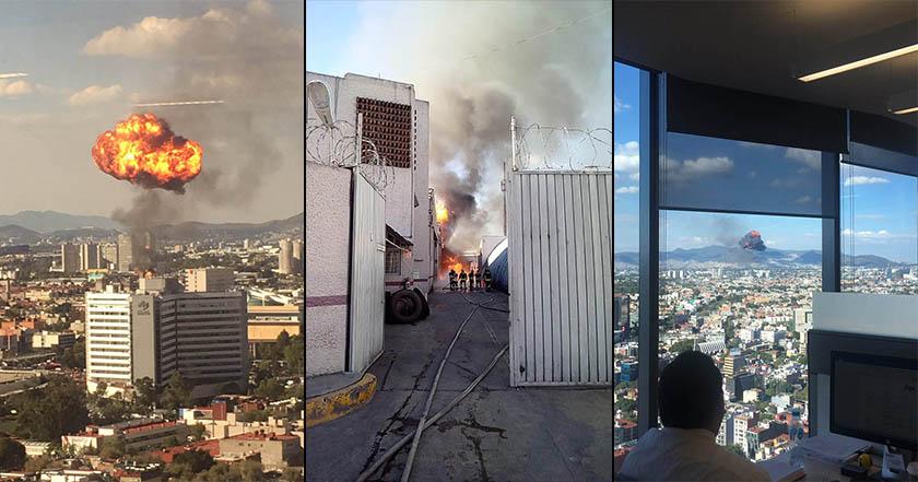 Se incendia fábrica en Cuauhtémoc; se levanta columna de fuego (videos, imágenes)