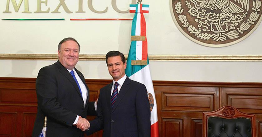 Nosotros definimos nuestra política migratoria: Peña Nieto a Pompeo