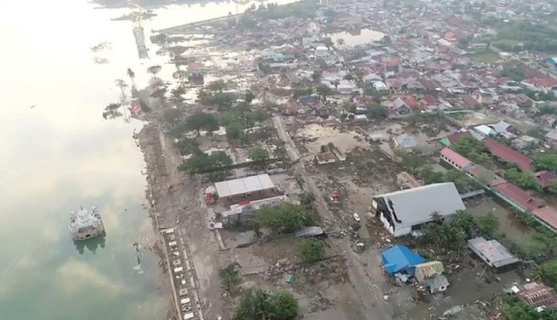 Timelapse satelital muestra el devastador efecto del tsunami en Indonesia