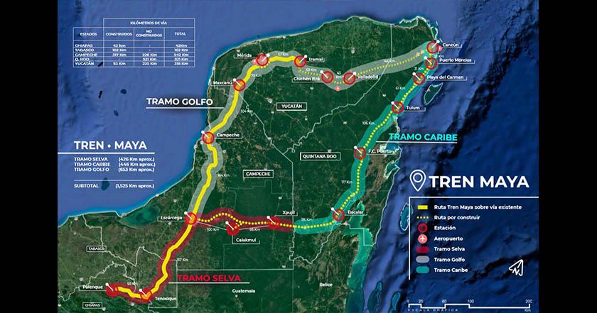 tren maya mapa amlo Calakmul