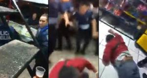 Captan a policías golpeando y robando a un hombre en Indios Verdes (video)