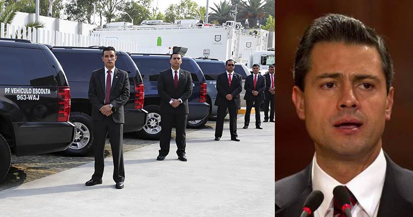 Comienzan a retirar guardias del Estado Mayor a gabinete de Peña Nieto