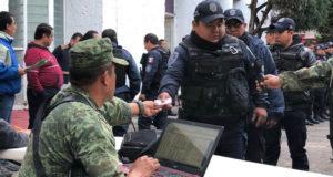 Ejército inspecciona a policías locales en 3 municipios de Morelos