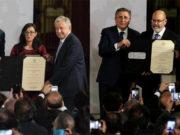 Entrega AMLO Premio Nacional de Derechos Humanos a Tita Radilla y Fix Zamudio