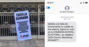 Intentan engañar a votantes en la elección extraordinaria en Monterrey