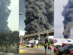 Toluca, Edomex_ se incendia bodega de tela en Plaza Santín (videos)
