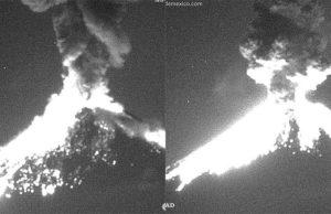 Video_ Se registra fuerte explosión del Popocatépetl; semáforo aún en Amarillo 2