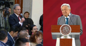 Aparece Nino Canún en rueda de prensa de AMLO; Peña lo vetó, asegura