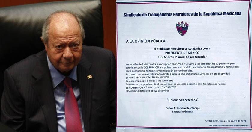 Deschamps celebra trabajo anticorrupción en Pemex; redes le dicen cínico