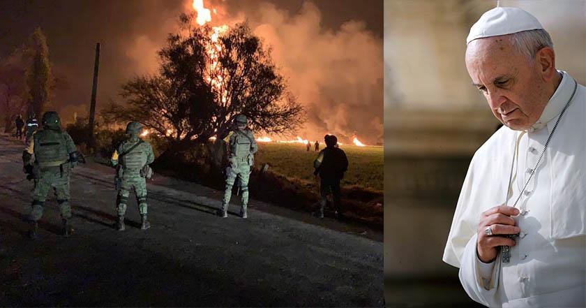 El papa Francisco expresa sus condolencias por la tragedia de Tlahuelilpan