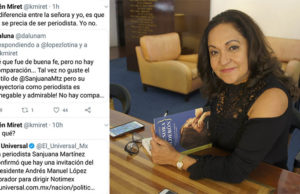 Kiren Miret cuestiona a Sanjuana Martínez como directora de Notimex