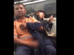 Sujeto muestra el pene a mujer en el Metro; lo graba pero policías no hacen nada